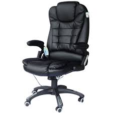 fauteuil de bureau cuir noir massant et chauffant bc elec com