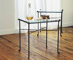 Glass Top Side Table Side Table With Glass Top Charles P Rogers Beds Direct Makers
