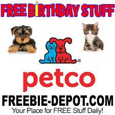 birthday stuff free birthday stuff petco freebie depot
