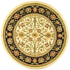 safavieh dhurries black ivory 8 ft x 8 ft round area rug dhu552l