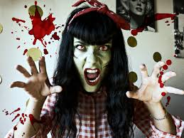 zombie pin up en 10 minutos halloween make up tutorial