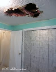 How To Hang Drywall On Ceiling By Yourself by How To Repair A Hole In Your Ceiling Drywall
