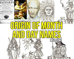 origin of month and day names in5d esoteric metaphysical and