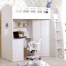 White Wood Loft Bed With Desk by 20 Charming Selections Of White Loft Beds With Desk