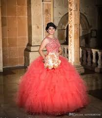quinceanera dresses coral cheap coral quinceanera gowns sweet 16 prom gowns skirt