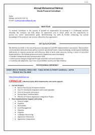 Consulting Resume Example Ahmad Mehrez Oracle Financial Consultant Resume