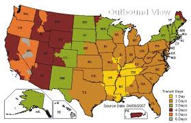 Memphis Tennessee Map ups ground shipping time