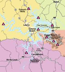 cove lake of the ozarks map local bass fishing information lake of the ozarks bassing fishing