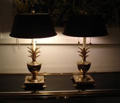 Pineapple Light Fixtures Pair Of Brass Pineapple Lamps At 1stdibs