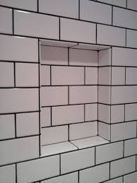 tiles bathroom subway tile white subway tile grey grout bathroom