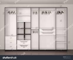 Modern Home Interior Wide Closet Large Window Modern Home Stock Illustration 445527319