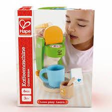 hape spielküche hape kaffeemaschine e3106 für die spielküche pirum holzspielzeuge