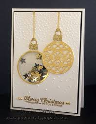 stin up shaker card using embellished ornaments delicate
