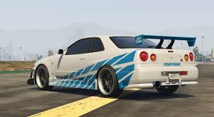 nissan skyline fast and furious 6 1999 nissan skyline gt r r34 gta5 mods com