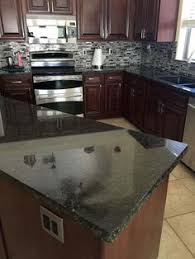 Kitchen Cabinet Cherry Cherry Kitchen Cabinets With Gray Wall And Quartz Countertops