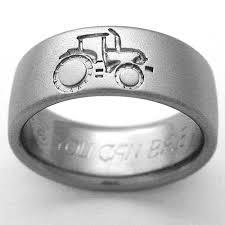 country wedding rings emporia 1 titanium ring with tractors titanium wedding rings