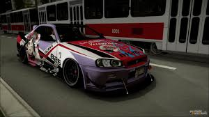 custom nissan skyline drift skyline r34 stance nico yazawa itasha for gta san andreas