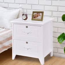 end table with locking drawer solid wood elegant night stand w 2 locking drawer storage shelf end
