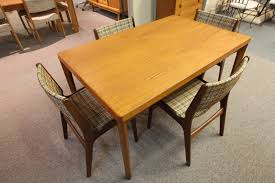 danish teak dining table w hidden extensions 54 5