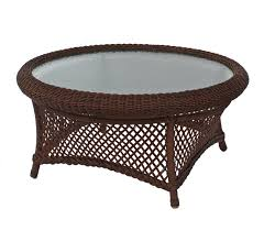 Wicker Patio Coffee Table Outdoor Coffee Table Iron Wood