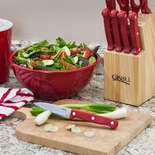 Ginsu Kitchen Knives Ginsu Essential Series 10 Piece Stainless Steel Serrated Knife Set