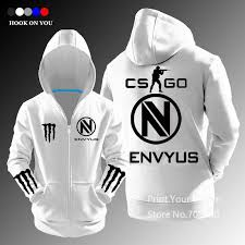 shipping csgo gaming team envyus team zipper hoodies sweatshirt