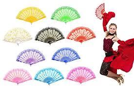 hand held fans for church amazon com omytea rose lace folding hand held fans bulk for women