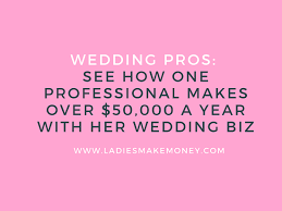 wedding planning business to make 50 000 a year with a wedding planning business