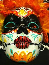 mardi gras skull mask day of the dead painted decorative mask dia de los muertos