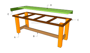 Cedar Patio Table How To Build A Patio Table Howtospecialist How To Build Step