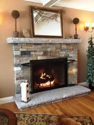 fireplace stacked stone binhminh decoration