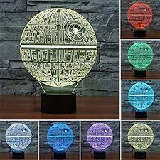 huiyuan desk lamp 3d star wars 7 colors change touch switch table