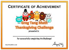 thanksgiving congratulations greg tang math