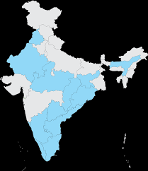 Blank India Map by Ict Academy Covered States Ict Academy Servicing States In India