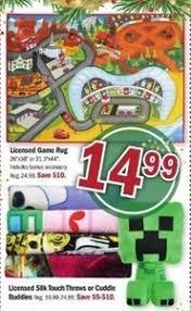 licensed game rug u0026 silk touch throw buddies 14 99 at meijer