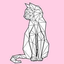 Geometric Designs Best 25 Geometric Cat Ideas Only On Pinterest Geometric Cat
