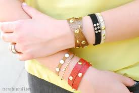 leather bracelet craft images Diy leather studded wrap bracelet jpg