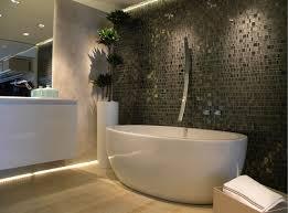 Grey Modern Bathroom Modern Bathroom With Cut Grey Glass Mosaic Modern