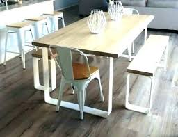 table with bench seat white table and bench set lesdonheures com