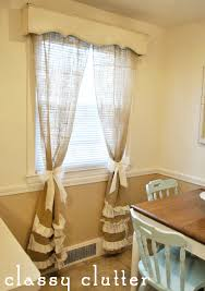 my take on ruffled burlap curtains classy clutter