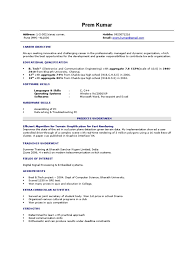 Achievements In Resume Examples For Freshers Resume For Networking Fresher Free Resume Example And Writing