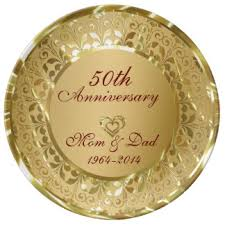 50th wedding anniversary plates 50th wedding anniversary gifts t shirts posters other