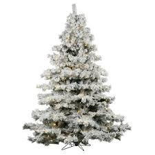 3ft flocked alaskan pine artificial tree slim with white
