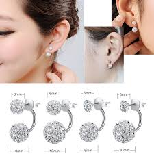 trendy earrings aliexpress buy shamballa stud earrings fashion jewelry stud