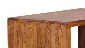 Schreibtisch Holz Natur Sheesham Massivholz Schreibtisch 140 X 80 X 76 Cm