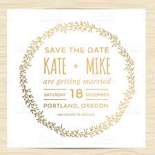 Invitation Card Marriage Save The Date Wedding Invitation Card Template With Wreath Flower