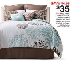 Blue And Brown Bed Sets Size 8 Pc Bedding Set In Blue Brown Floral Shown Or Green