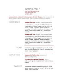 top 3 resume templates june 2014
