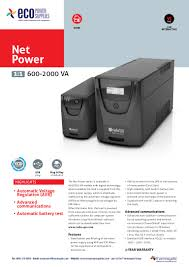 ecopowersupplies riello net power ups datasheet