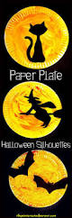 halloween crafts for kids craft room and silhouettes